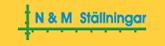 Hyr byggställningar av oss på NM-Ställningar  Logotyp